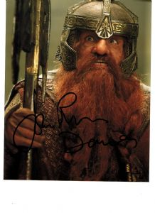 A049 - LORD OF THE RINGS - John Rhys Davies - Gimli the dwarf - Signed 10x8 Photo